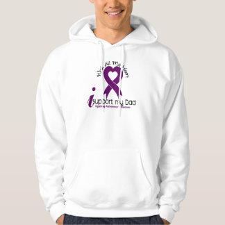 Alzheimers Disease I Support My Dad Hooded Sweatshirt