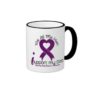 Alzheimers Disease I Support My Dad Ringer Coffee Mug