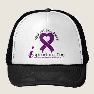 Alzheimers Disease I Support My Dad Trucker Hat