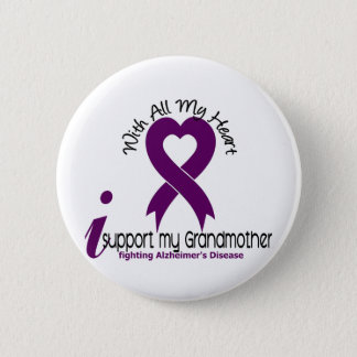 Alzheimers Disease I Support My Grandmother Pinback Button