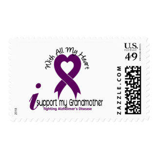 Alzheimers Disease I Support My Grandmother Postage Stamp