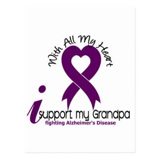 Alzheimers Disease I Support My Grandpa Postcard