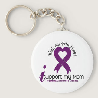 Alzheimers Disease I Support My Mom Keychain
