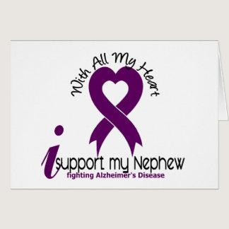 Alzheimers Disease I Support My Nephew Card