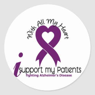 Alzheimers Disease I Support My Patients Classic Round Sticker