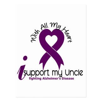 Alzheimers Disease I Support My Uncle Postcard