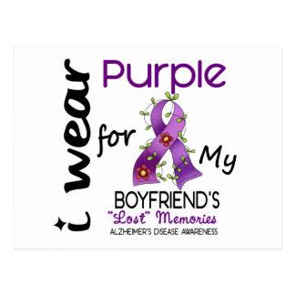 Alzheimers Disease I Wear Purple For My Boyfriend Postcard