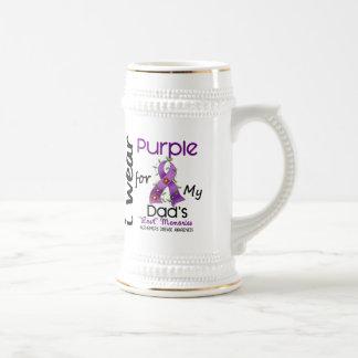 Alzheimers Disease I Wear Purple For My Dad 43 18 Oz Beer Stein