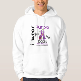 Alzheimers Disease I Wear Purple For My Dad 43 Pullover