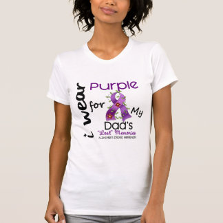 Alzheimers Disease I Wear Purple For My Dad 43 Tee Shirt