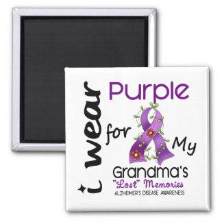 Alzheimers Disease I Wear Purple For My Grandma 43 2 Inch Square Magnet