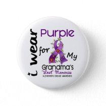 Alzheimers Disease I Wear Purple For My Grandma 43 Button
