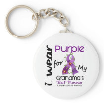 Alzheimers Disease I Wear Purple For My Grandma 43 Keychain
