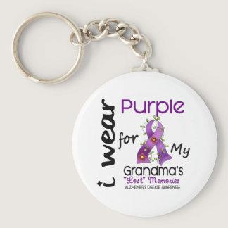 Alzheimers Disease I Wear Purple For My Grandma 43 Keychain