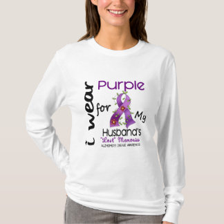 Alzheimers Disease I Wear Purple For My Husband 43 T-Shirt