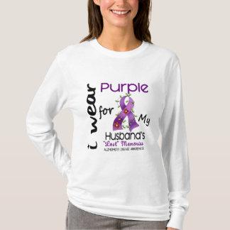 Alzheimers Disease I Wear Purple For My Husband 43 T-Shirt