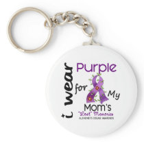 Alzheimers Disease I Wear Purple For My Mom 43 Keychain