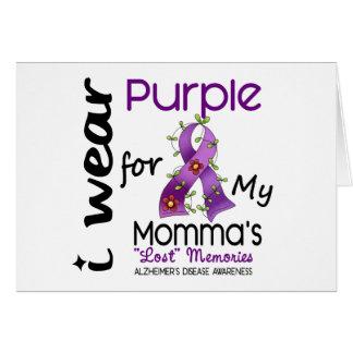 Alzheimers Disease I Wear Purple For My Momma 43 Card