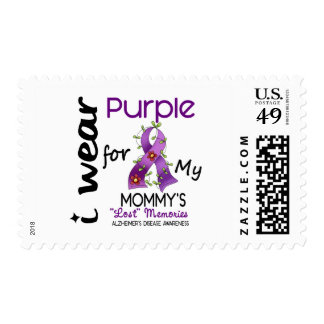 Alzheimers Disease I Wear Purple For My Mommy 43 Stamp