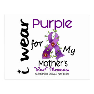 Alzheimers Disease I Wear Purple For My Mother 43 Postcard