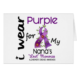 Alzheimers Disease I Wear Purple For My Nana 43 Card