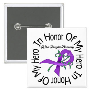 Alzheimers Disease In Honor Of My Hero Buttons