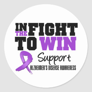Alzheimer's Disease In The Fight To Win Classic Round Sticker