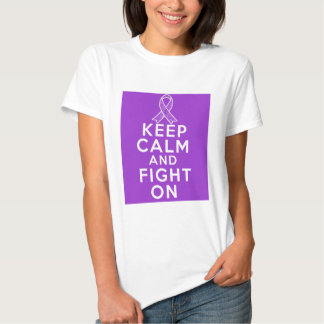 Alzheimers Disease Keep Calm and Fight On T Shirts
