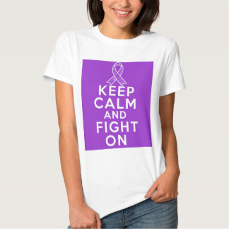 Alzheimers Disease Keep Calm and Fight On Tee Shirt