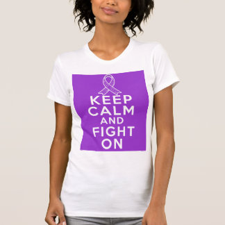 Alzheimers Disease Keep Calm and Fight On Tees