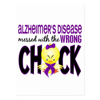 Alzheimer's Disease Messed With The Wrong Chick Postcard