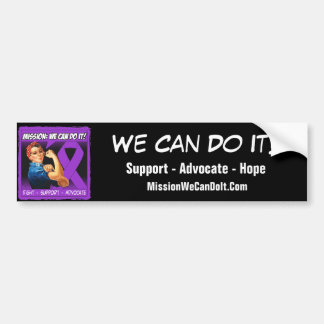Alzheimers Disease Mission We Can Do It Car Bumper Sticker
