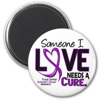 Alzheimer's Disease NEEDS A CURE 2 Refrigerator Magnets