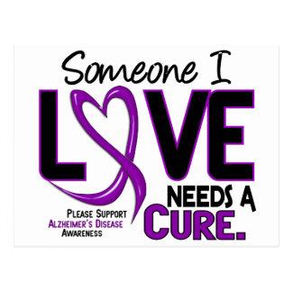 Alzheimer's Disease NEEDS A CURE 2 Postcard