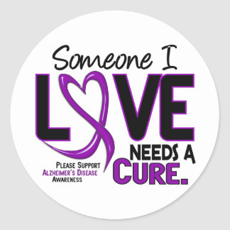 Alzheimer's Disease NEEDS A CURE 2 Stickers