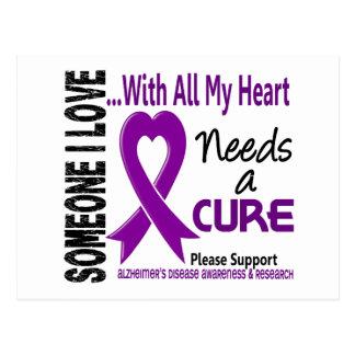 Alzheimers Disease Needs A Cure 3 Postcard