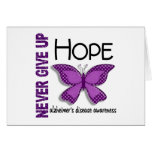 Alzheimer's Disease Never Give Up Hope Butterfly 4 Card
