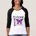Alzheimer's Disease Never Give Up Hope Butterfly 4 T-Shirt