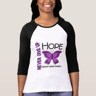 Alzheimer's Disease Never Give Up Hope Butterfly 4 T-Shirt