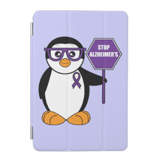Alzheimer's Disease: Penguin with a Stop Sign iPad Mini Cover