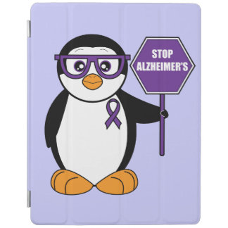Alzheimer's Disease: Penguin with a Stop Sign iPad Smart Cover