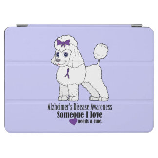 Alzheimer's Disease Poodle with Ribbon iPad Air Cover