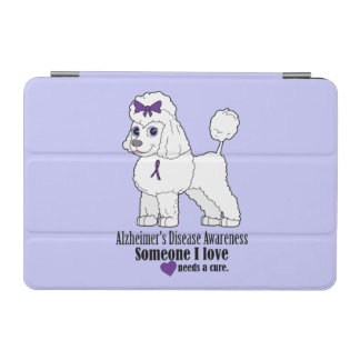 Alzheimer's Disease Poodle with Ribbon iPad Mini Cover