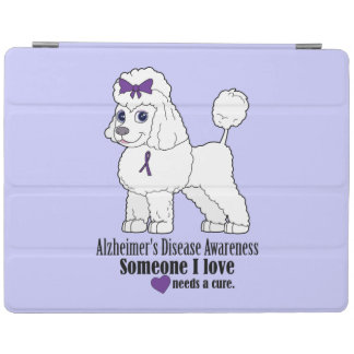 Alzheimer's Disease Poodle with Ribbon iPad Smart Cover