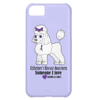 Alzheimer's Disease Poodle with Ribbon on Purple iPhone 5C Cover