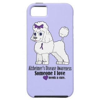 Alzheimer's Disease Poodle with Ribbon on Purple iPhone SE/5/5s Case