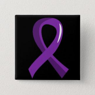 Alzheimer's Disease Purple Ribbon 3 Button