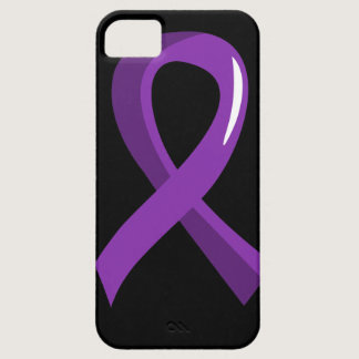 Alzheimer's Disease Purple Ribbon 3 iPhone SE/5/5s Case