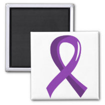Alzheimer's Disease Purple Ribbon 3 Magnet