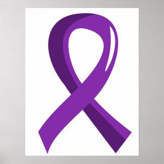 Alzheimer's Disease Purple Ribbon 3 Poster